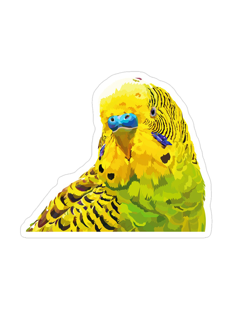 Yellow and Green Parakeet - Stickers