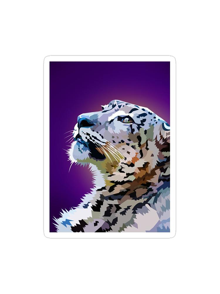 Staring Snowleopard - Sticker