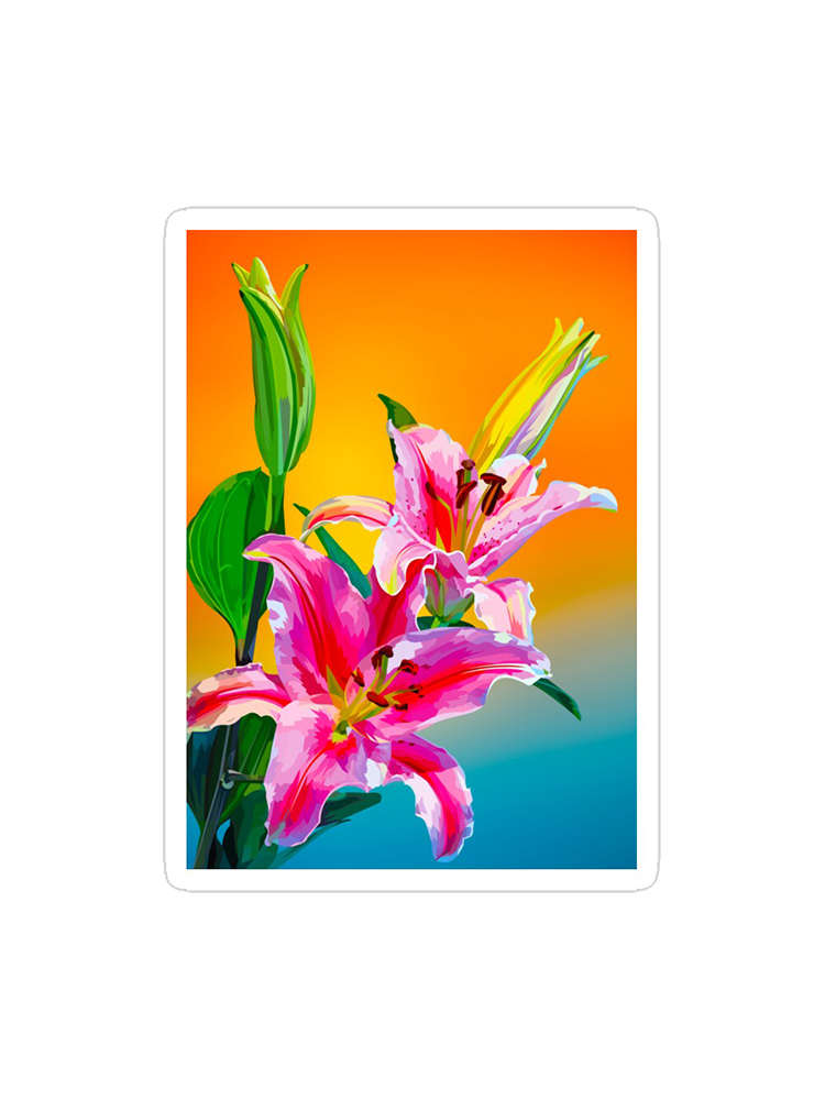 Tropical Flowers - Stickers