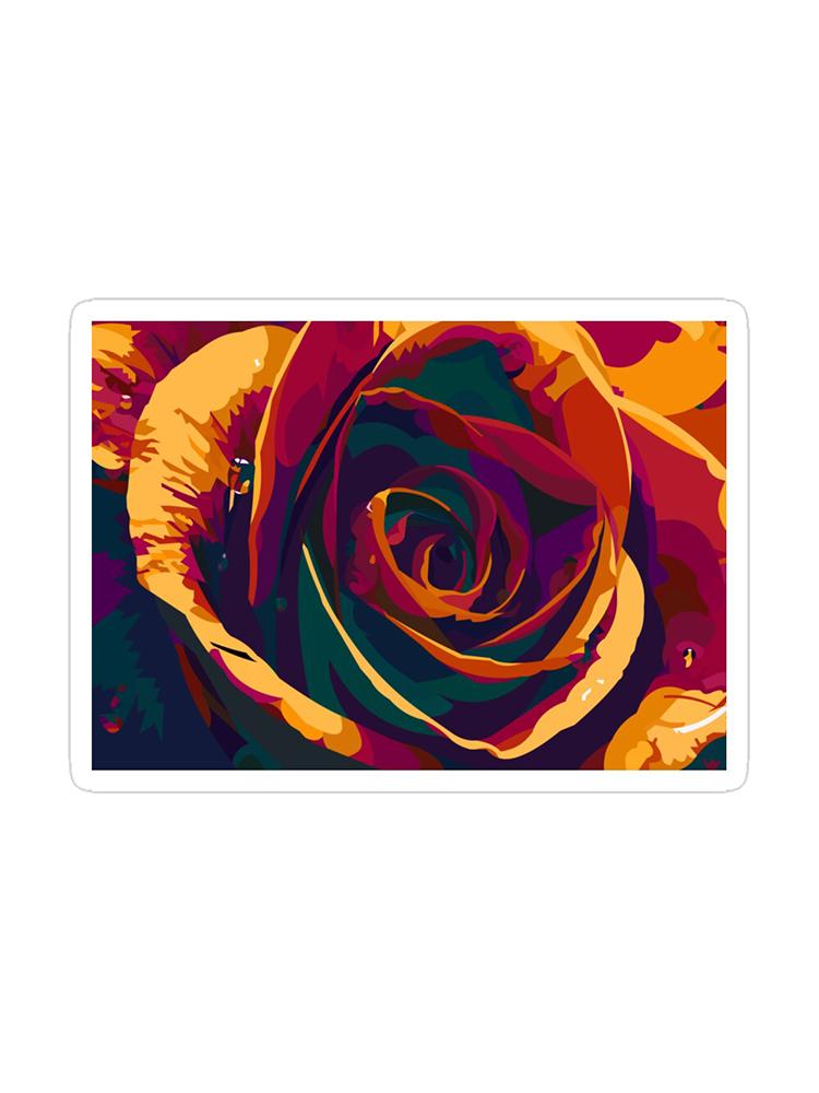 Rainbow Rose - Sticker