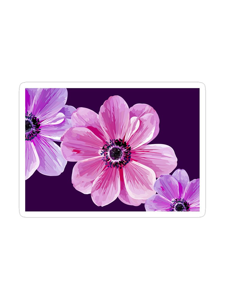 Three Flowers -Stickers