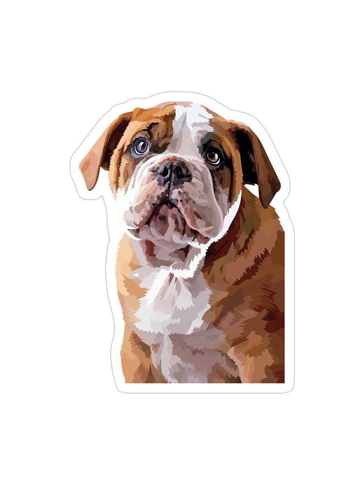 Bulldog Puppy Thinking - Sticker
