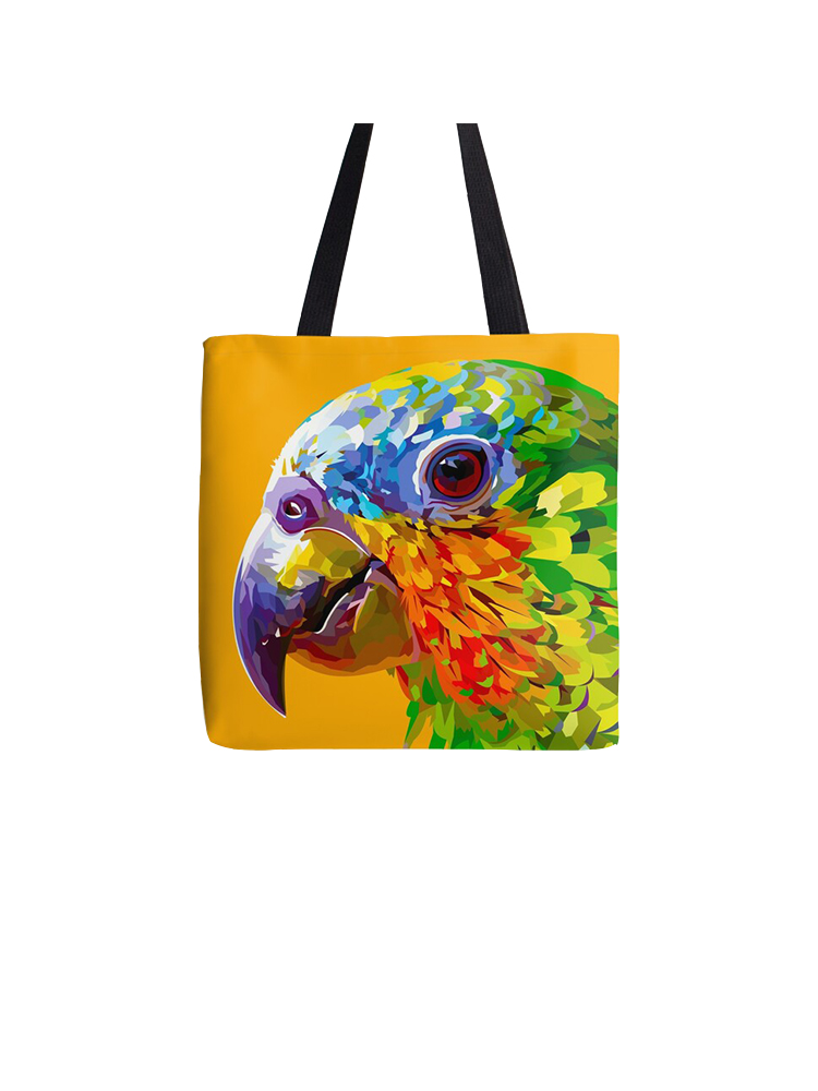 Rainbow Parrot Closeup - Tote bag