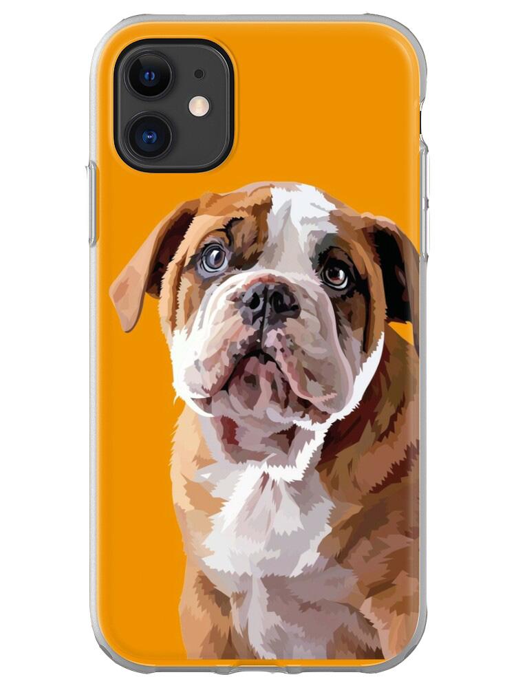 Bulldog Puppy Thinking - Mobile Case