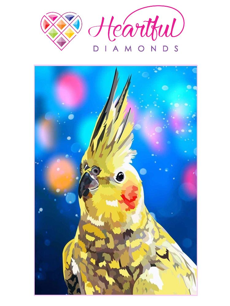 Yellow Cockatiel - Diamond painting