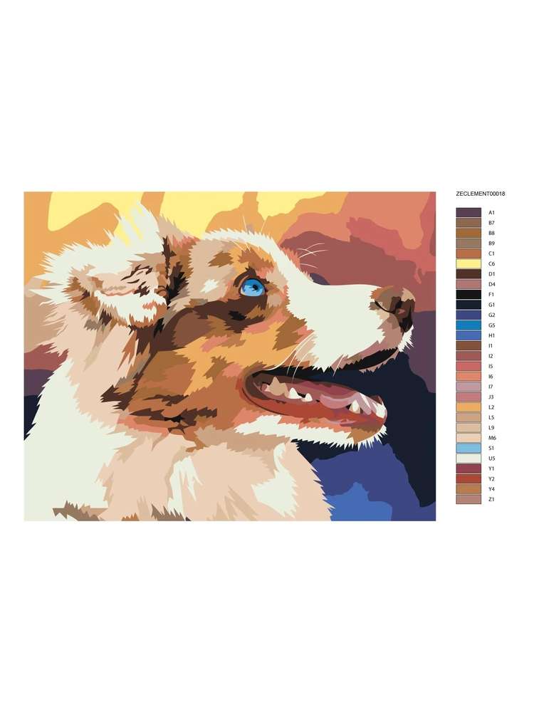 Colorful dog - Painting by Numbers