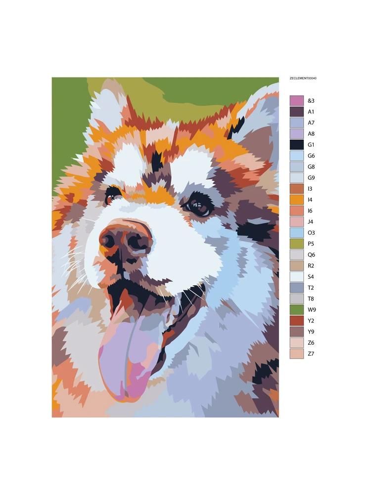 Husky- Painting by numbers
