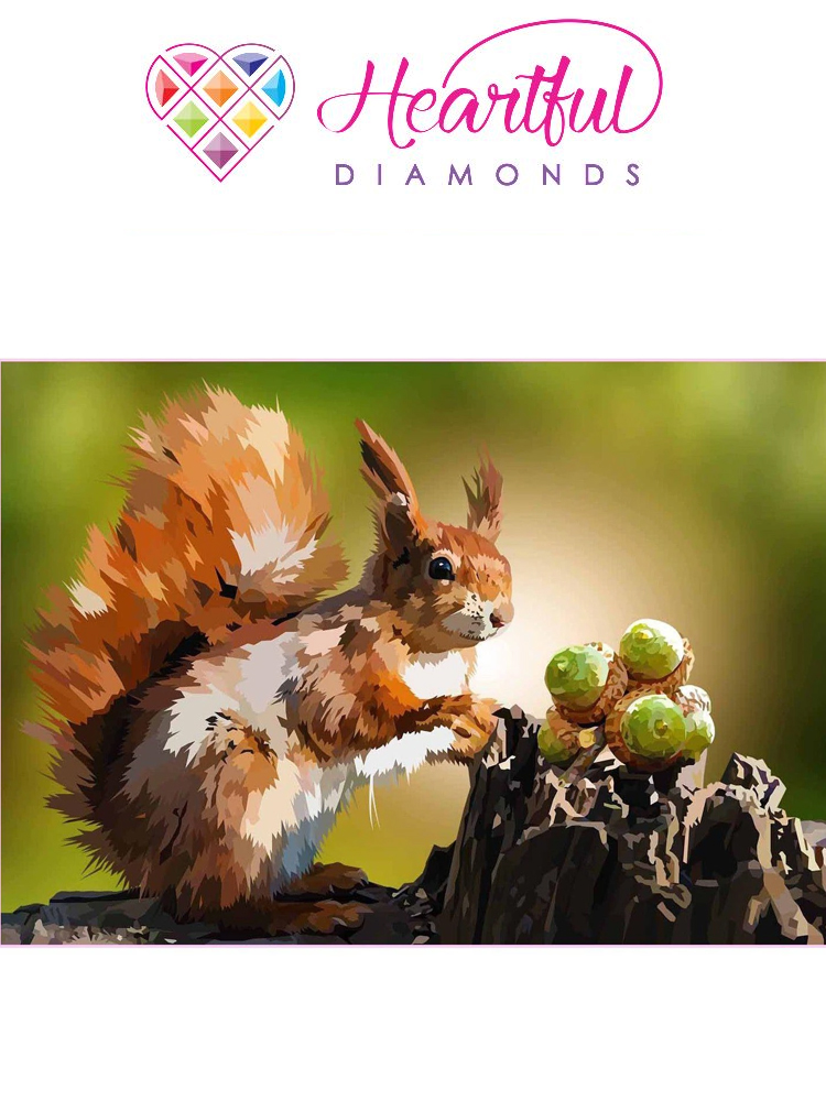 Stocking up my stash - squirrel - Diamond painting
