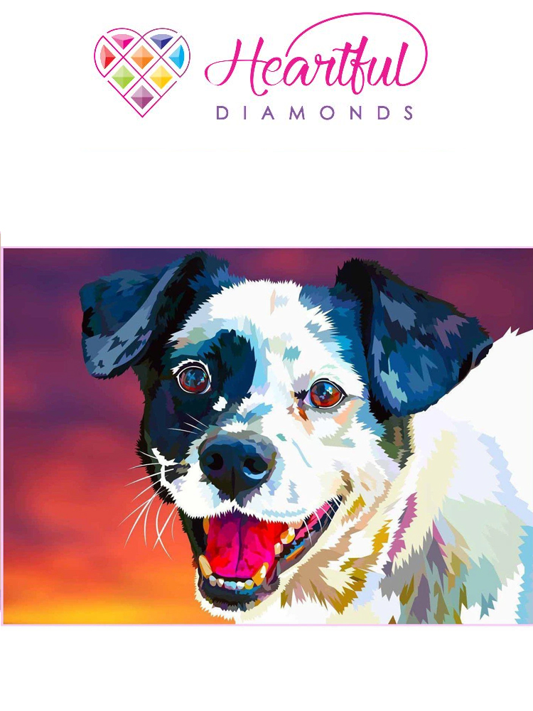 Happy Dog - Your loyal friend - Diamond painting