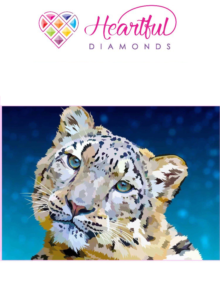 Snow leopard - Diamond painting