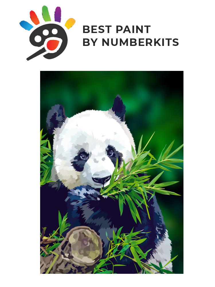Panda - Painting by numbers