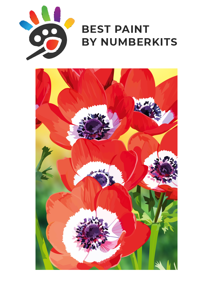 Red poppies - Painting by numbers