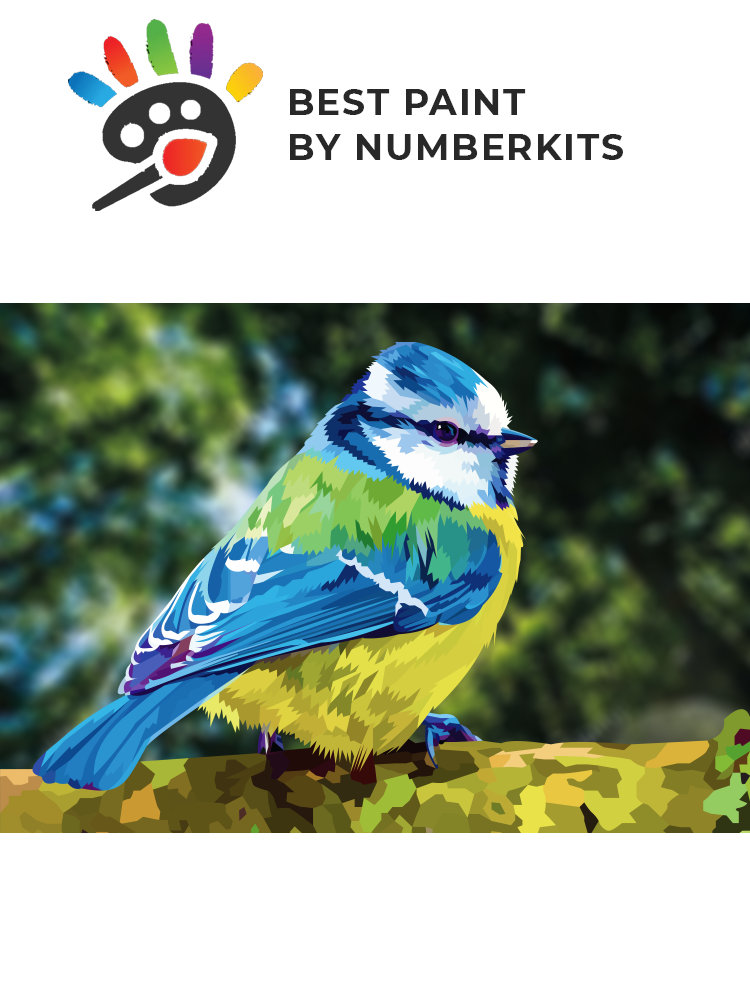 Blue tit - Painting by numbers