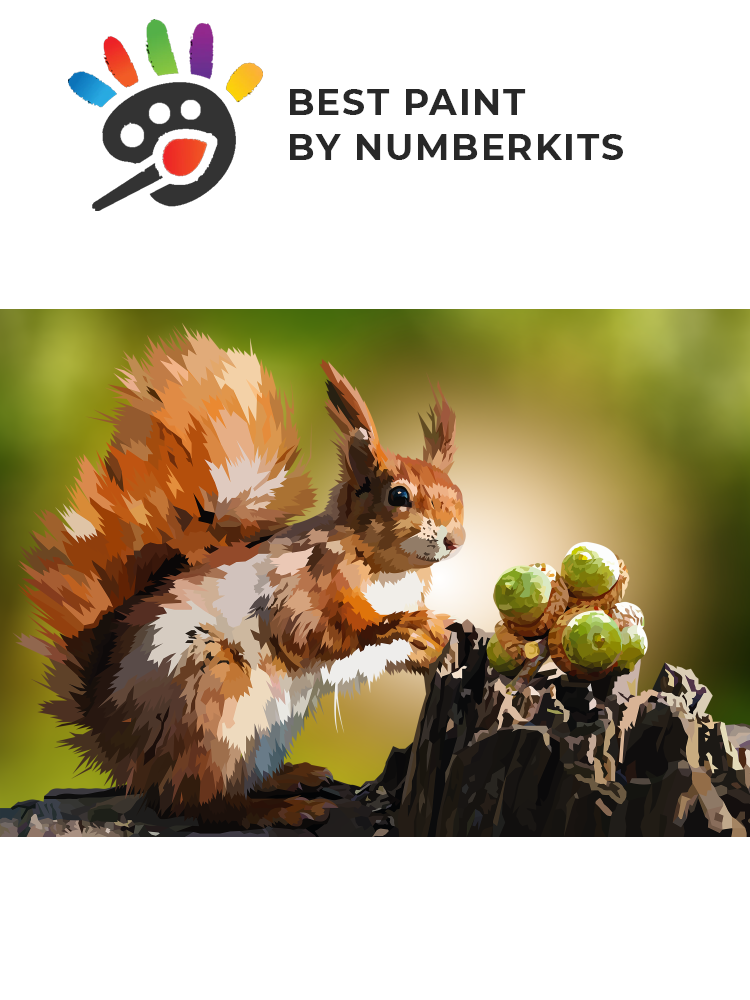 Squirrel - painting by numbers