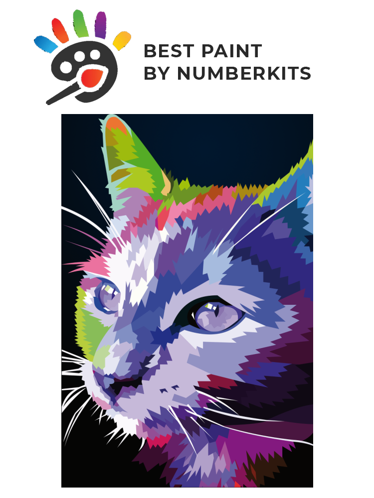 Rainbow cat - Painting by numbers