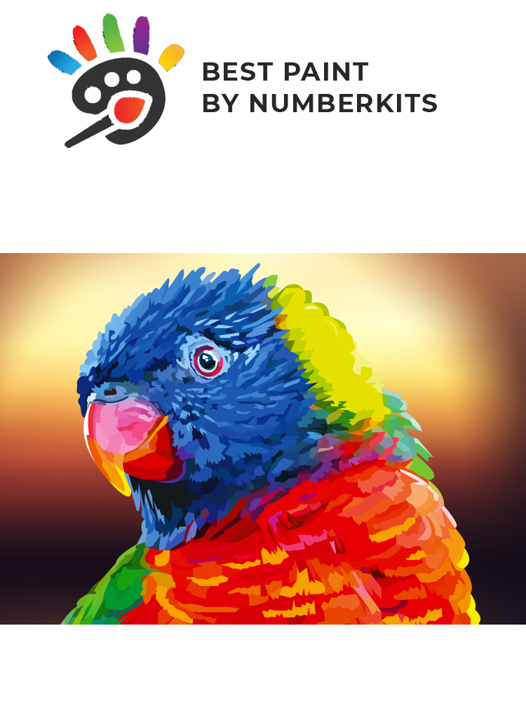 Rainbow parakeet - painting by numbers