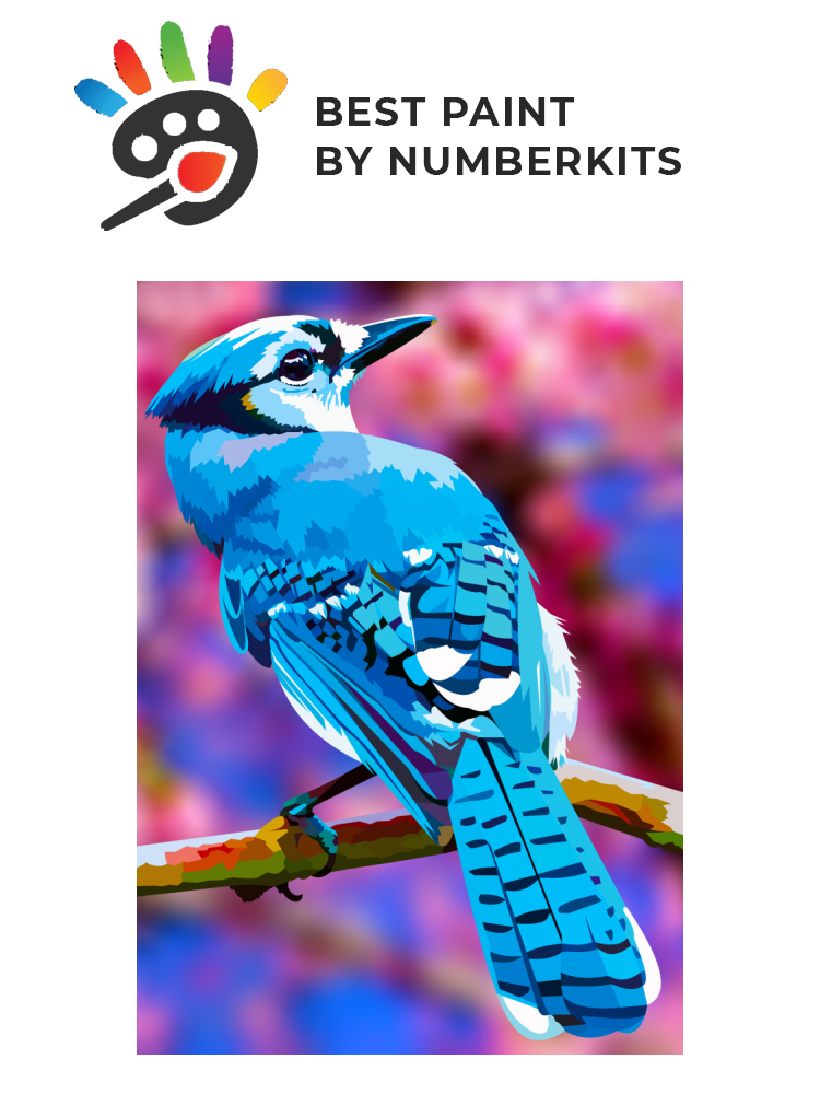 Blue bird - painting by numbers