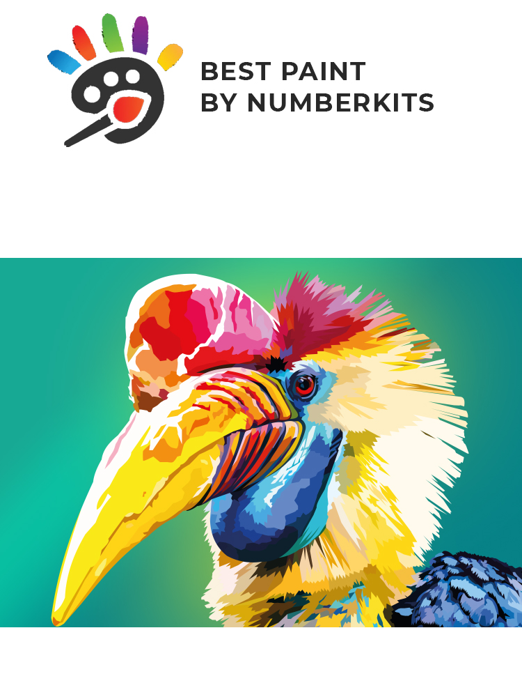 Hornbill - painting by numbers