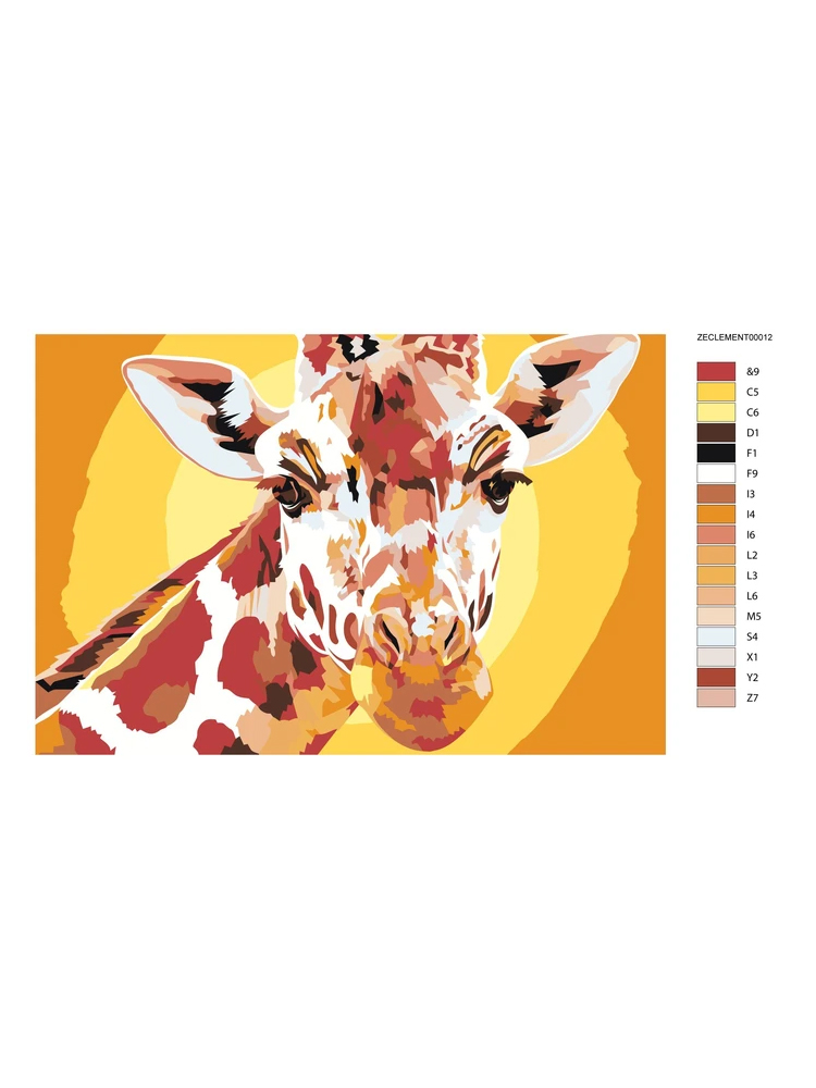 Giraffe - Painting by numbers