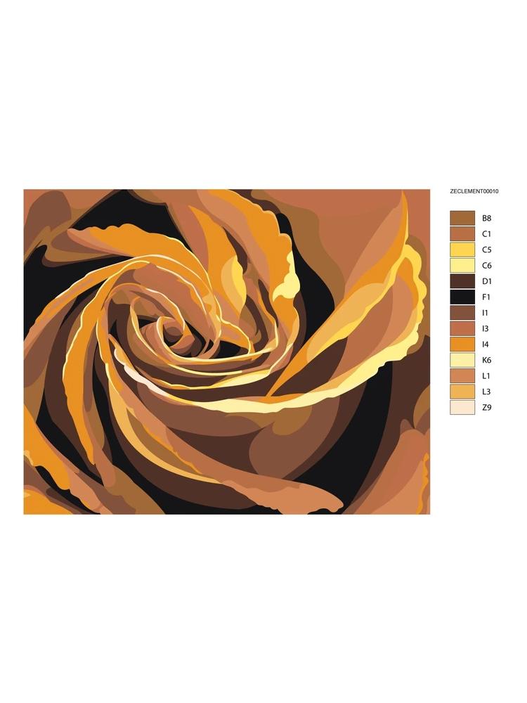Orange Rose - Painting by numbers
