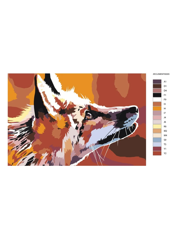 Fox - Painting by numbers