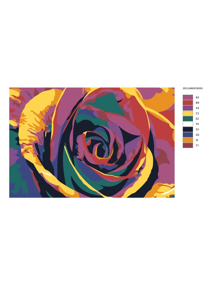 Rainbow rose - Painting by numbers