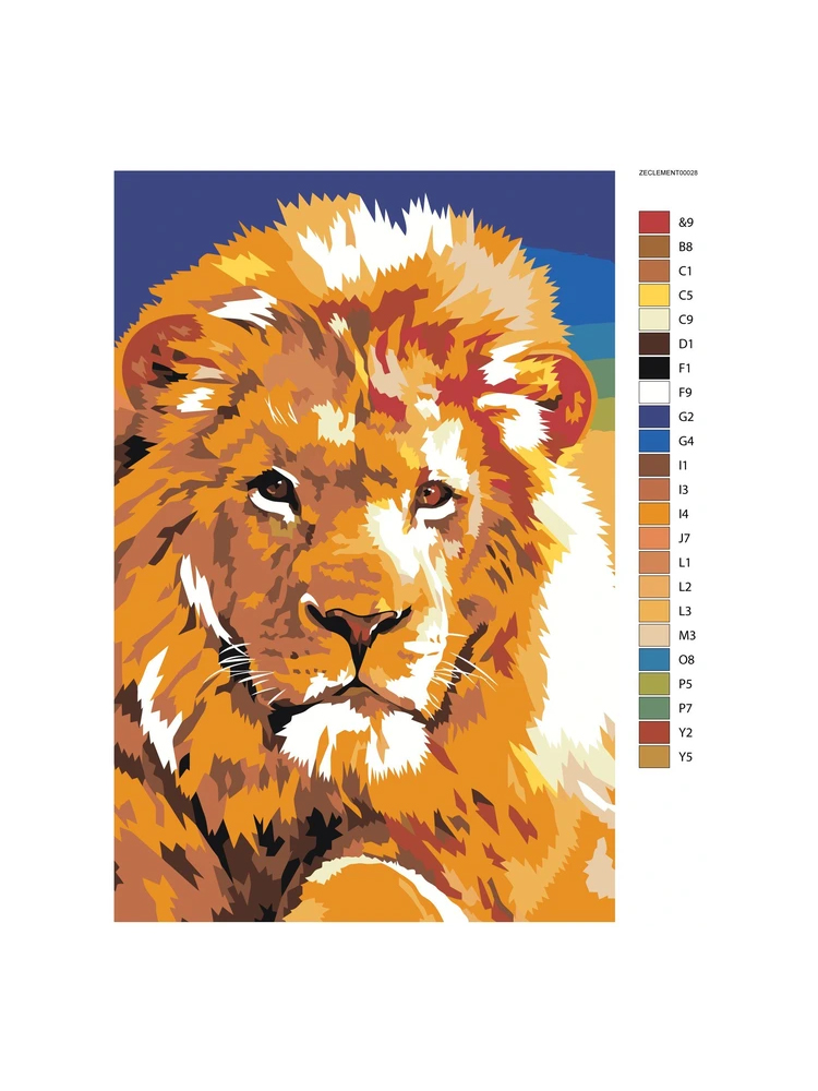 Lion - painting by numbers