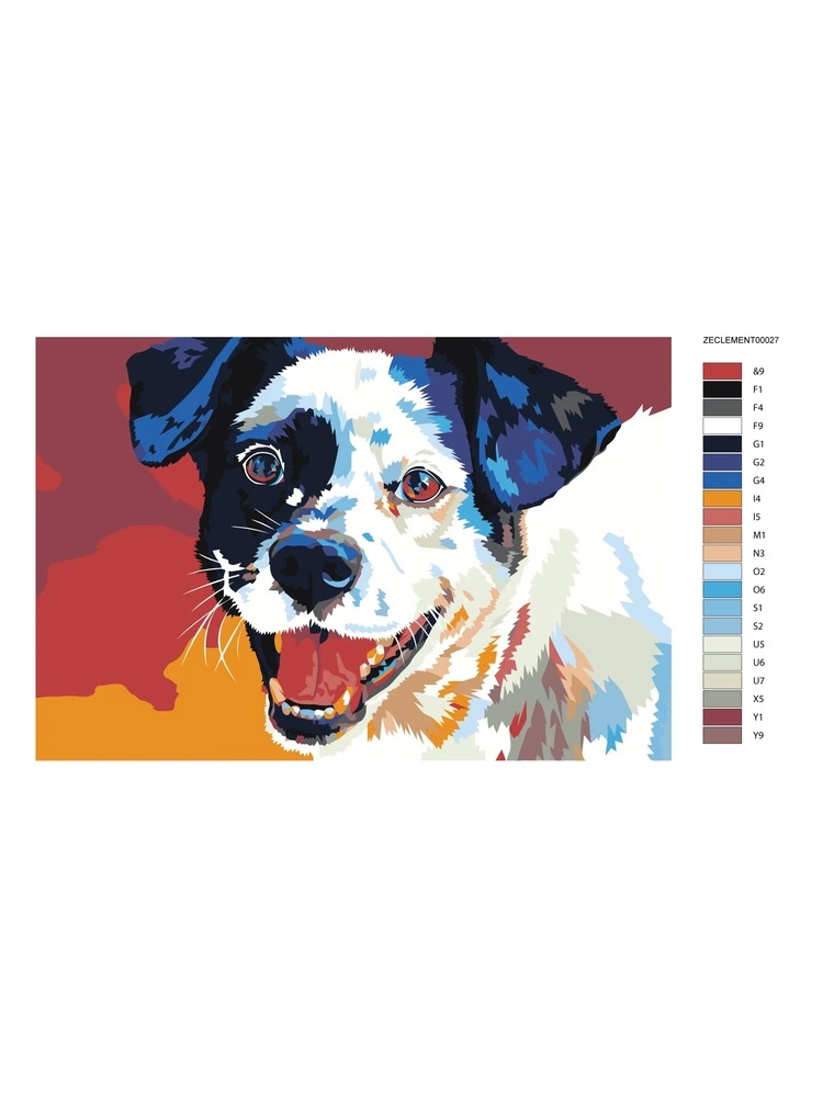 Happy Dog  - Painting by numbers