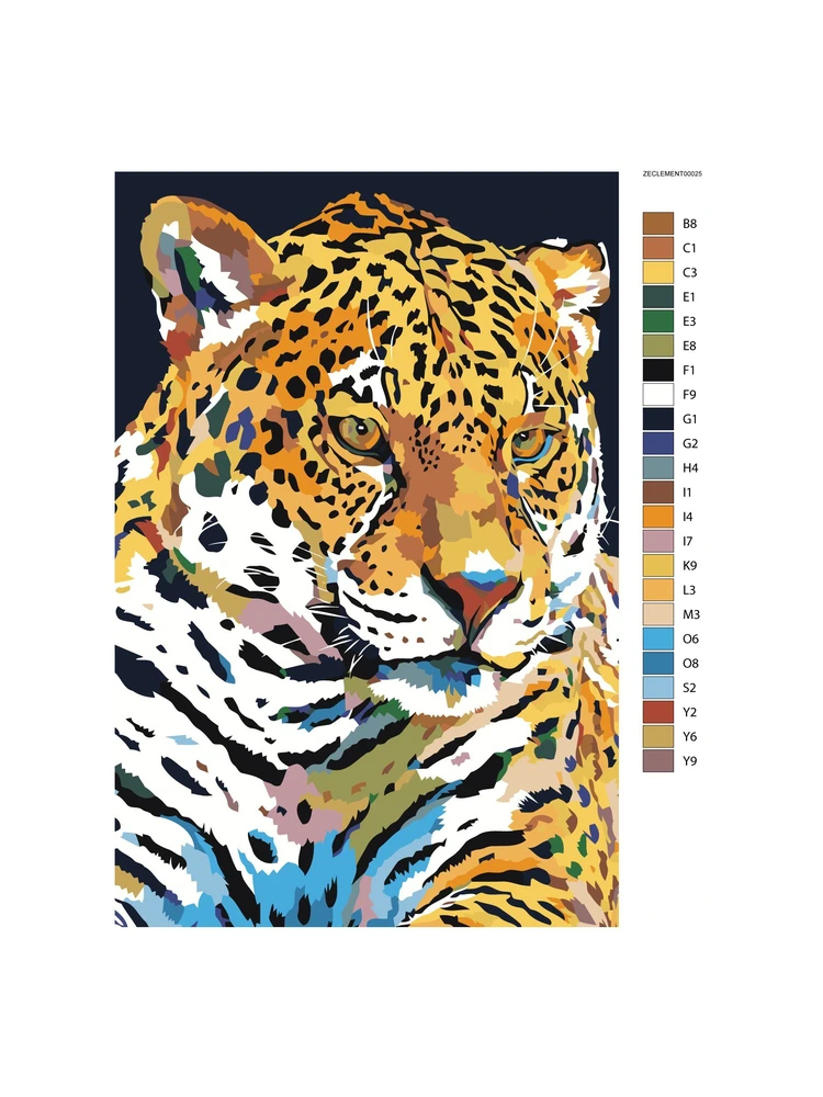 Jaguar  - painting by numbers