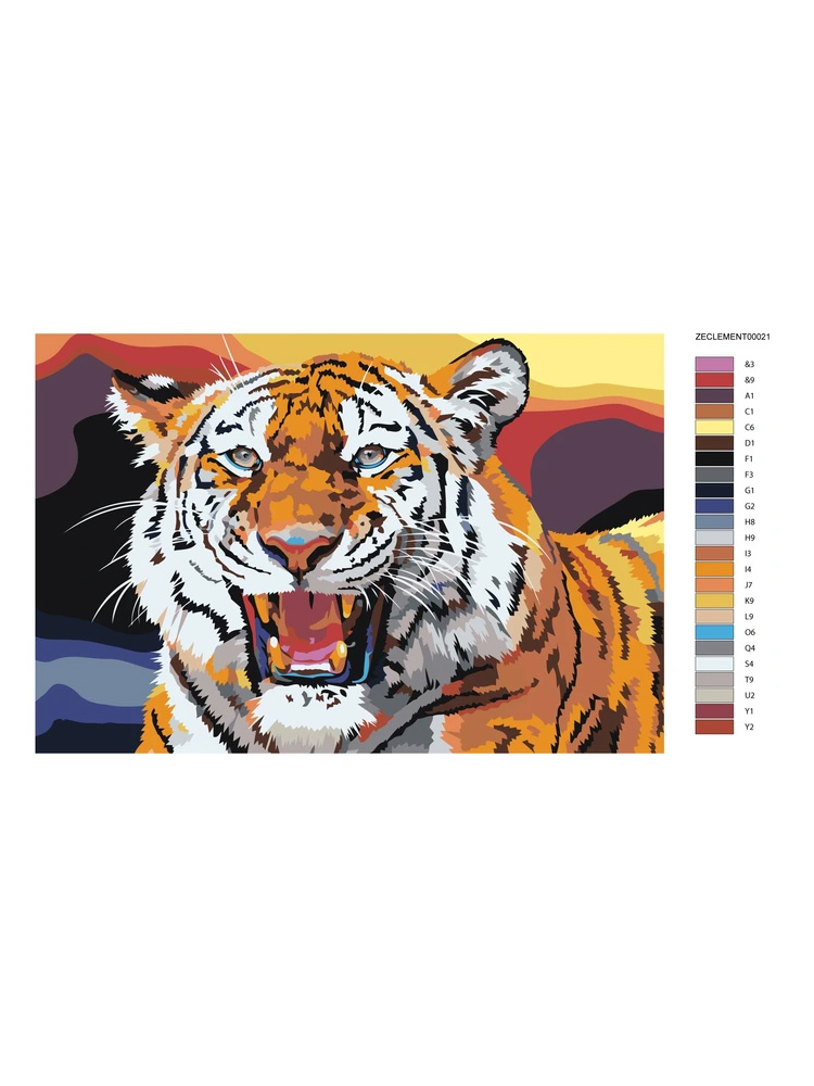 Tiger - Painting by numbers