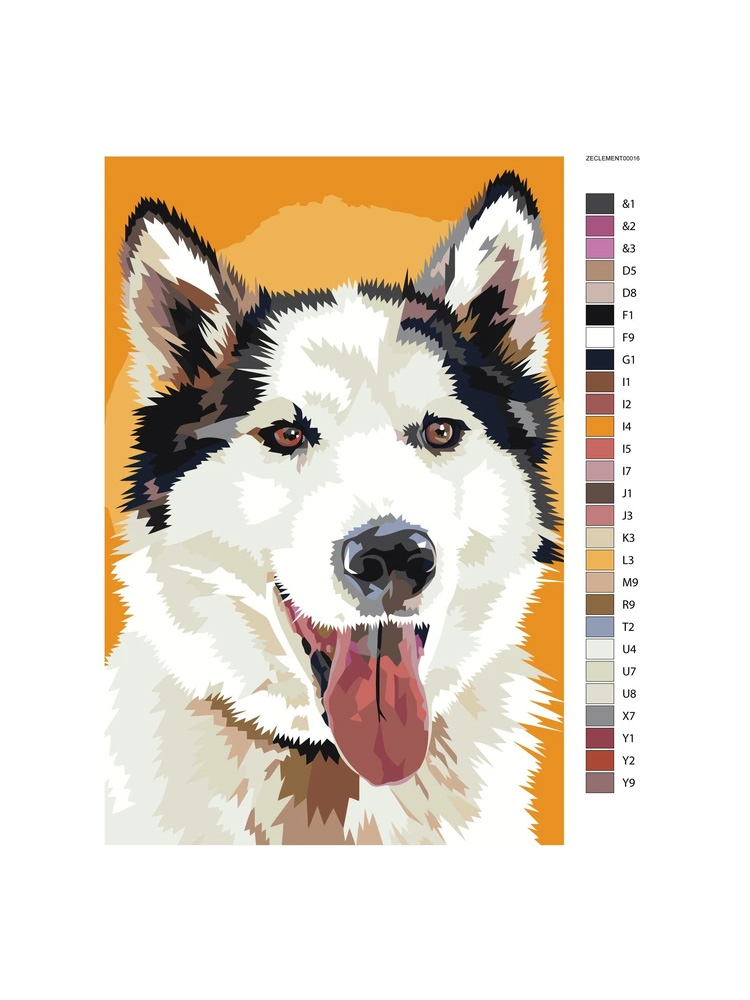 Husky Yellow - Painting by numbers