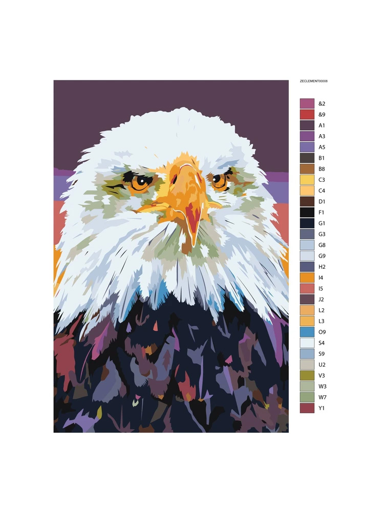 Eagle - Painting by numbers