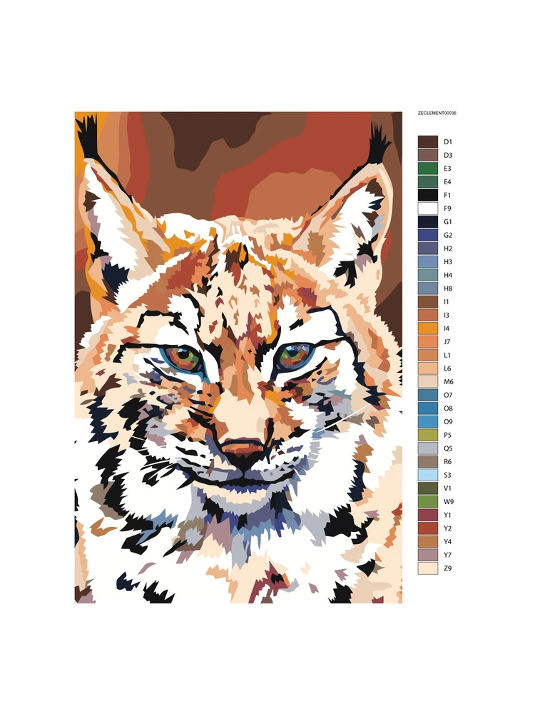 Lynx Orange - Painting by numbers