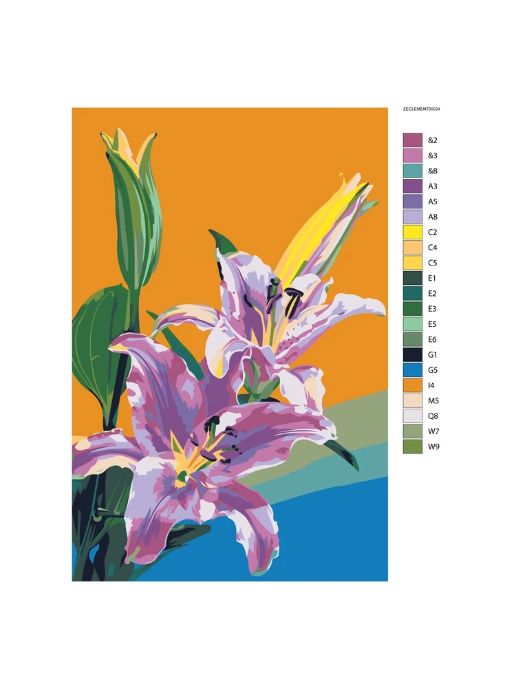Tropical flowers - Paint by numbers