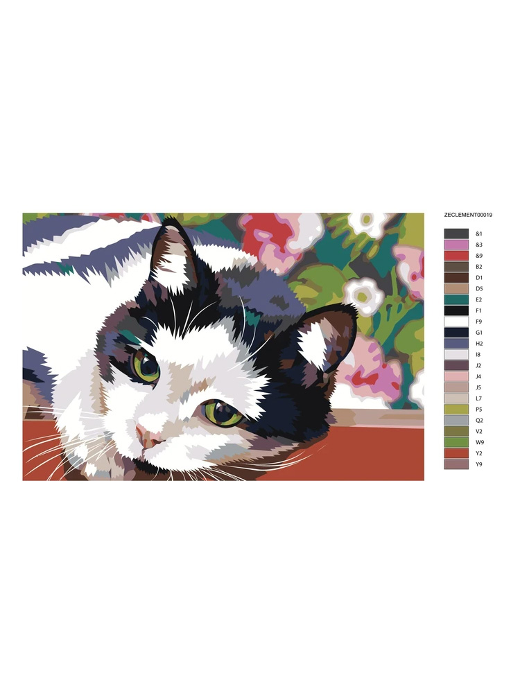 Cat garden - painting by numbers