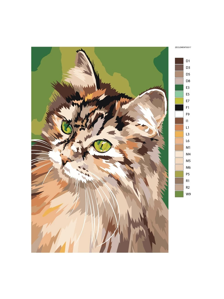 Cat Green - Painting by numbers