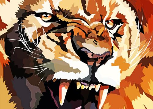 Angry lion - NL