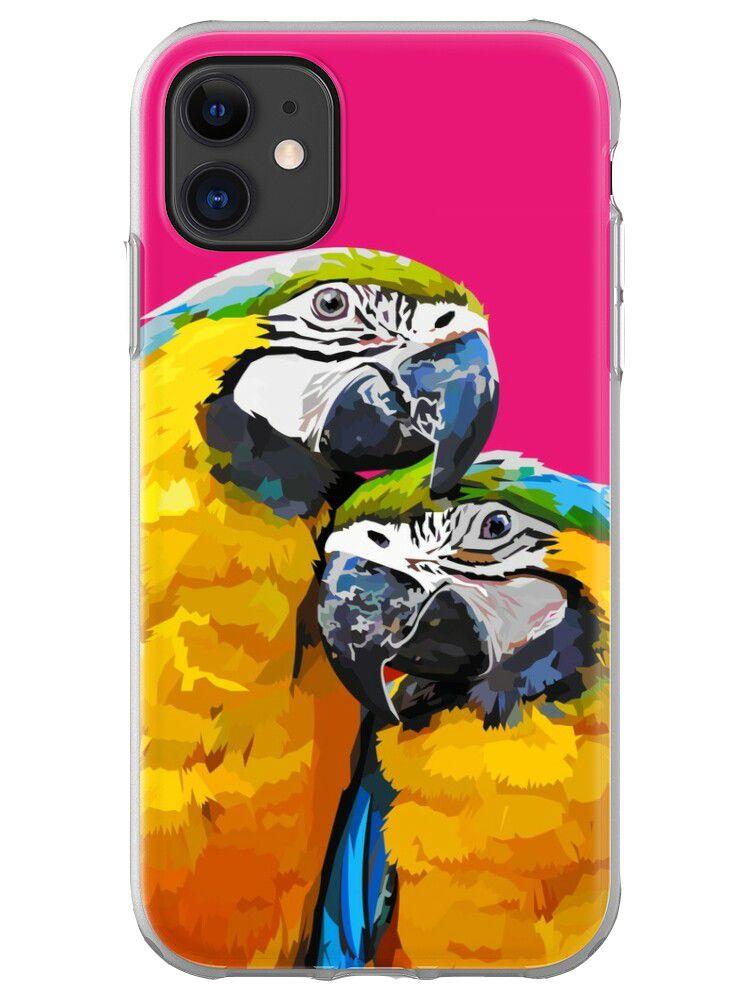 Sunset Love Parrot Mobile