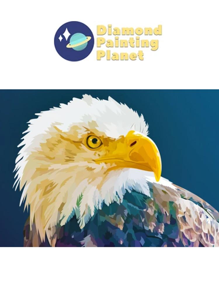 Bald Eagle Blue - Diamond painting