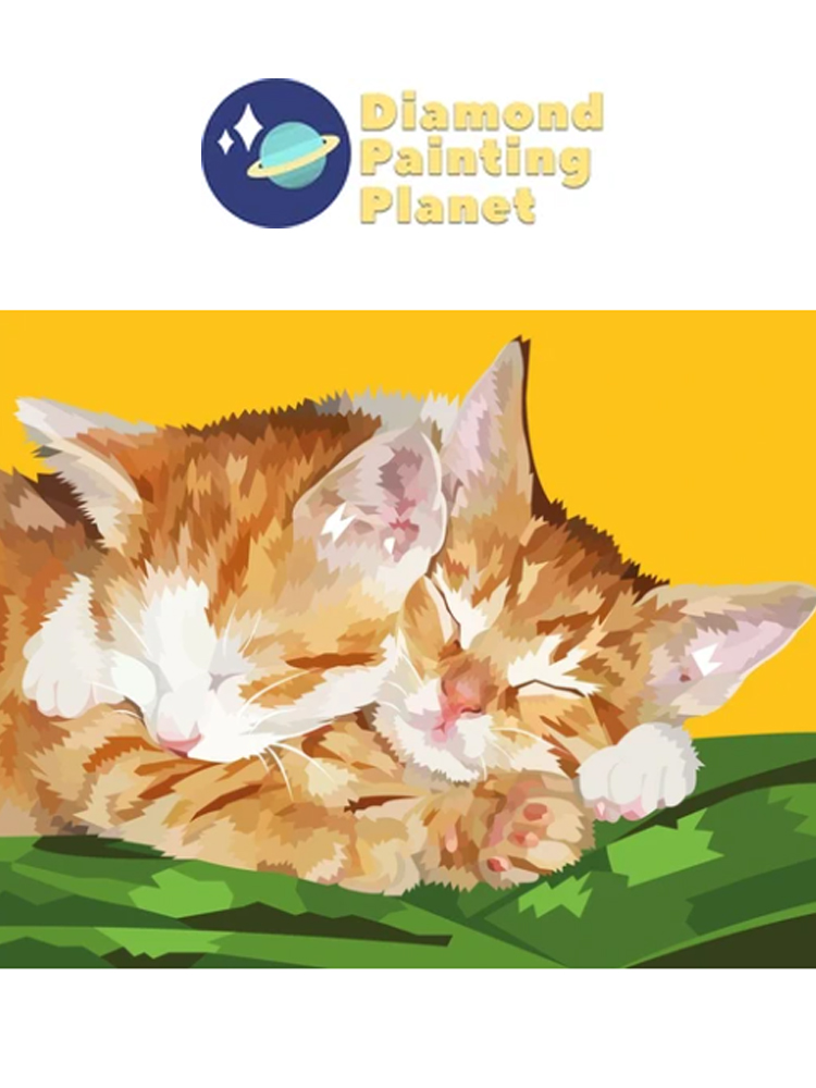 Two sleepy kittens - Diamond painting