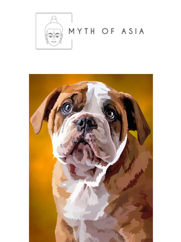 Bulldog Puppy Thinking - Diamond painting