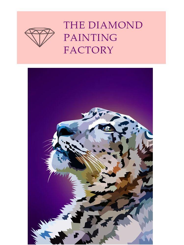 Staring Snow Leopard - Diamond painting