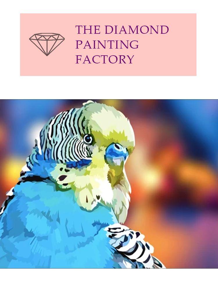 Blue City Parakeet - Diamond painting