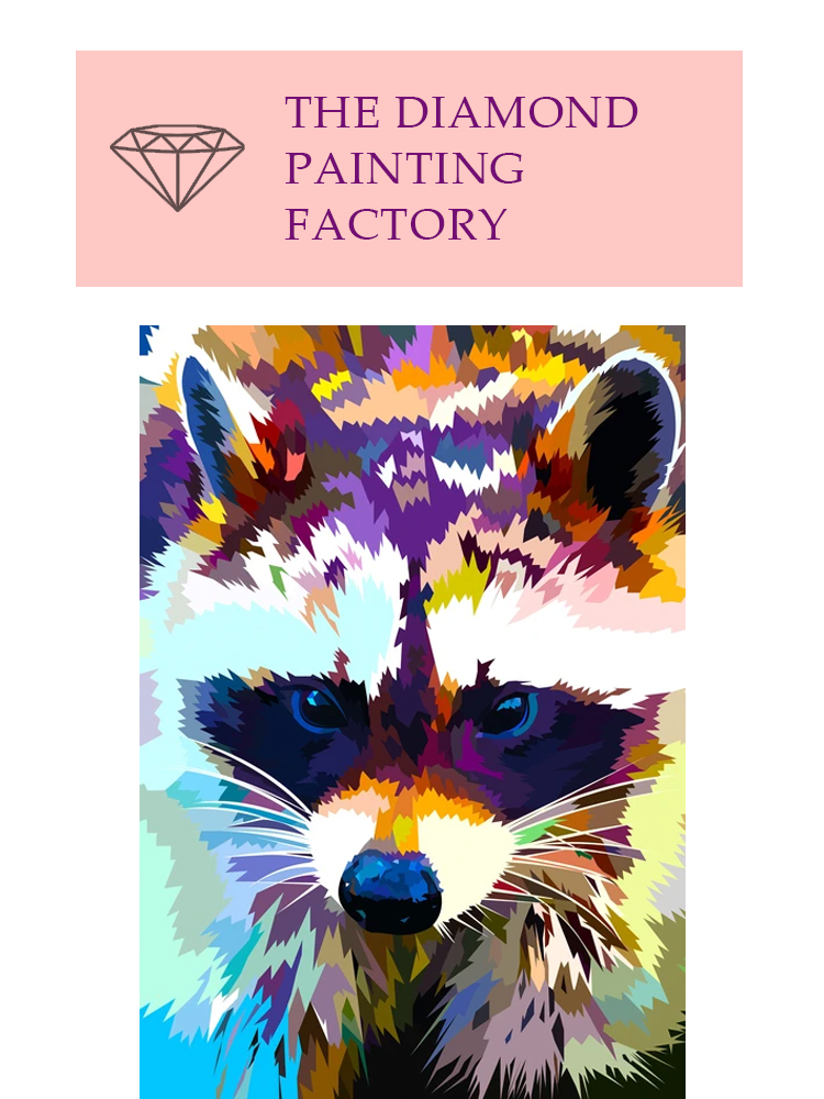 Raccoon - Diamond painting