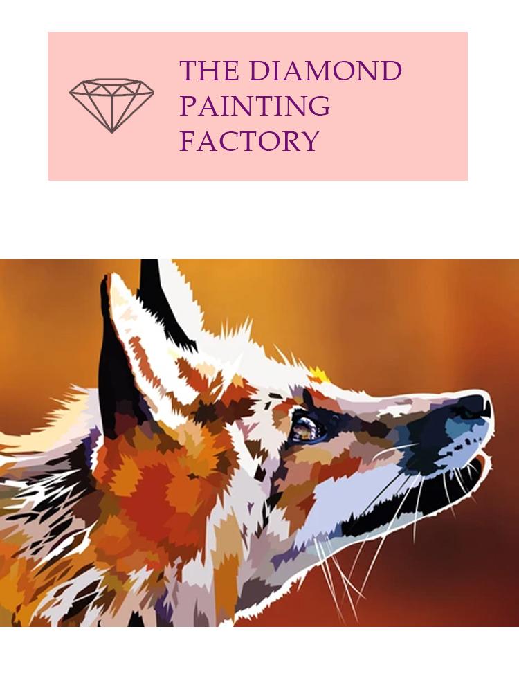 Rising Fox - Diamond painting