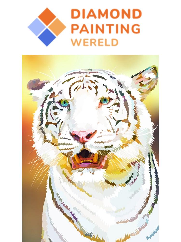 White Tiger - Diamond painting