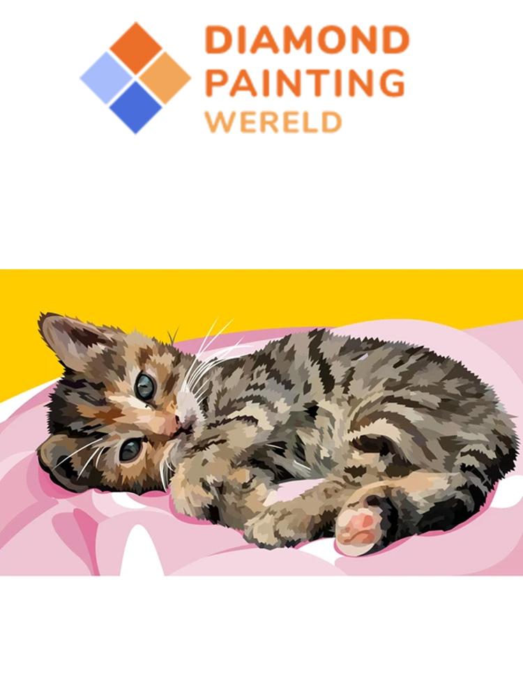 Sweet Kitten - Diamond painting