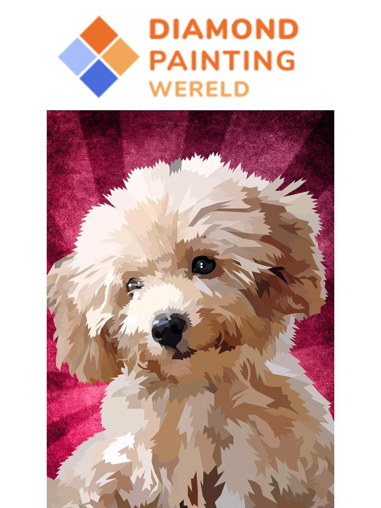 Poodle Pup - Diamond painting