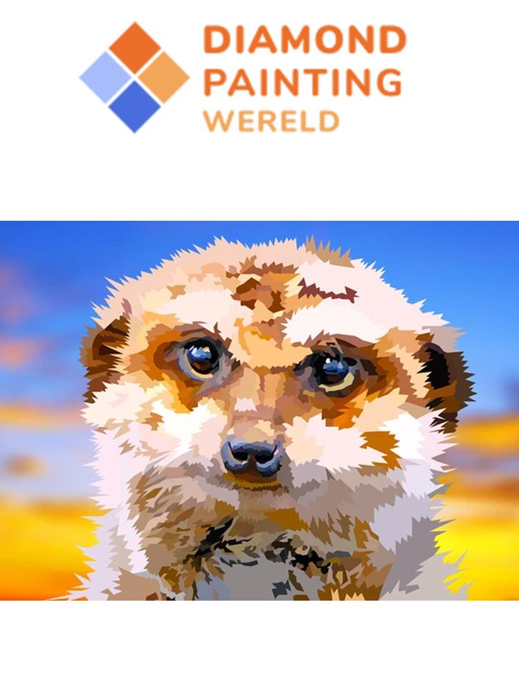 Meercat- Diamond painting