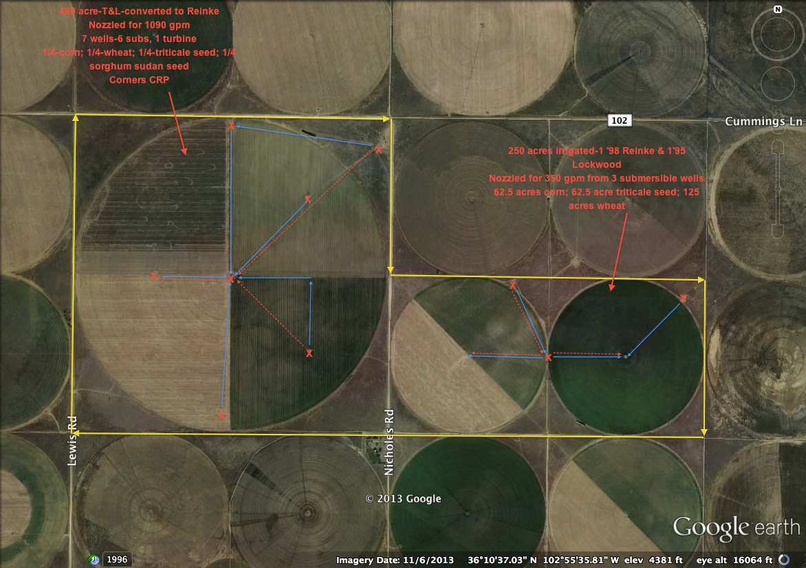 960 Acres West of Dalhart in Dallam County